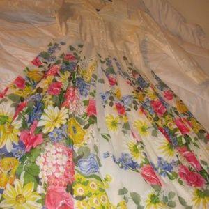 Dresses & Skirts - Vintage wide skirt Floral Spring Dress ~1970's~